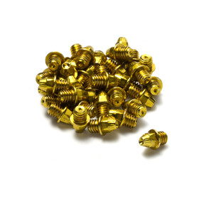 Reverse Pedal Pin Set M4x4mm 24 Pieces, gold